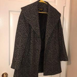 Marvin Richards Gray Leopard Coat